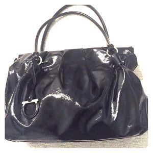 Salvatore Ferragamo Black Patent Handbag